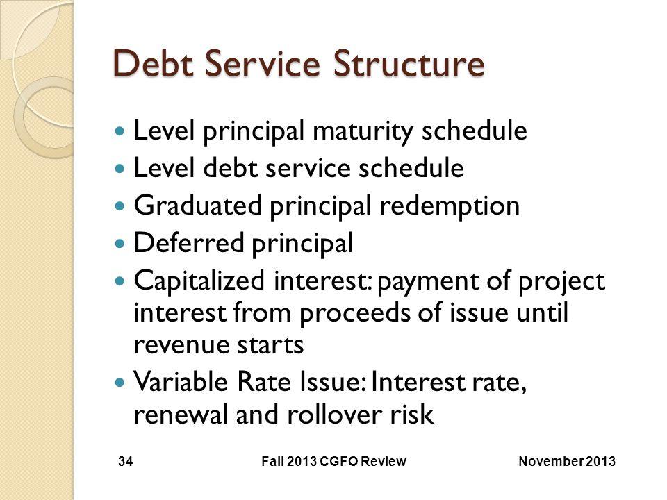 Debt Service Structure