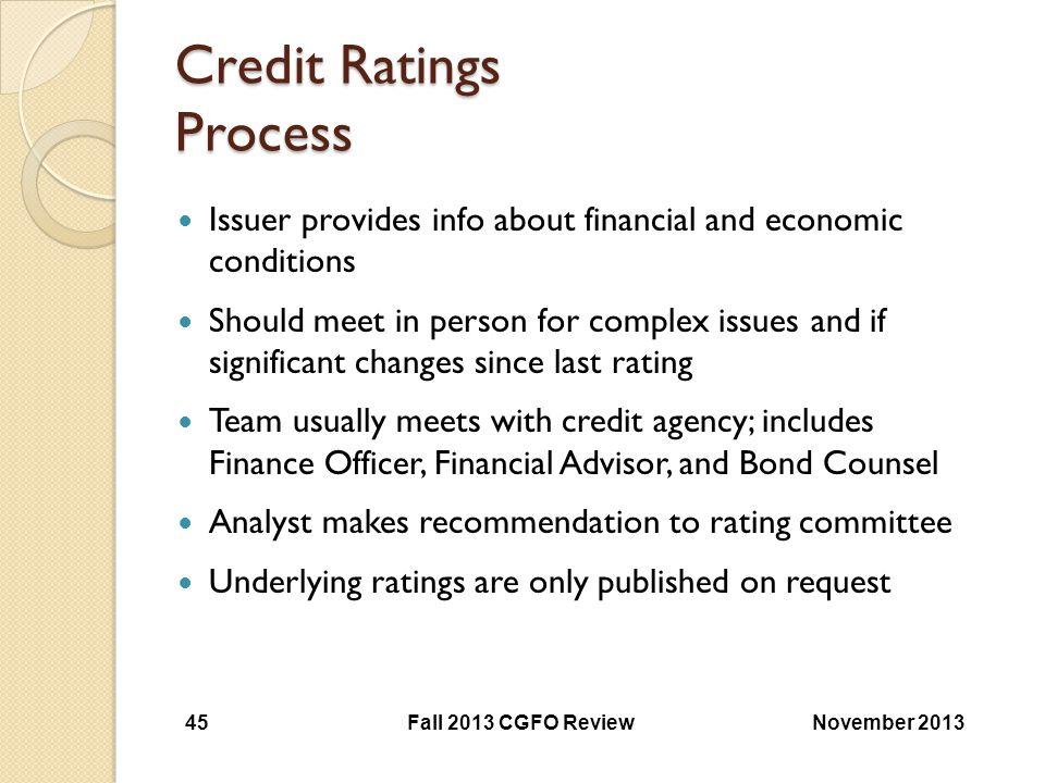 Credit Ratings Process