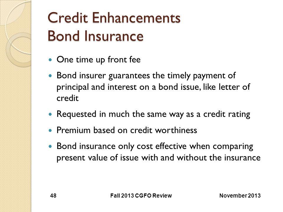 Credit Enhancements Bond Insurance