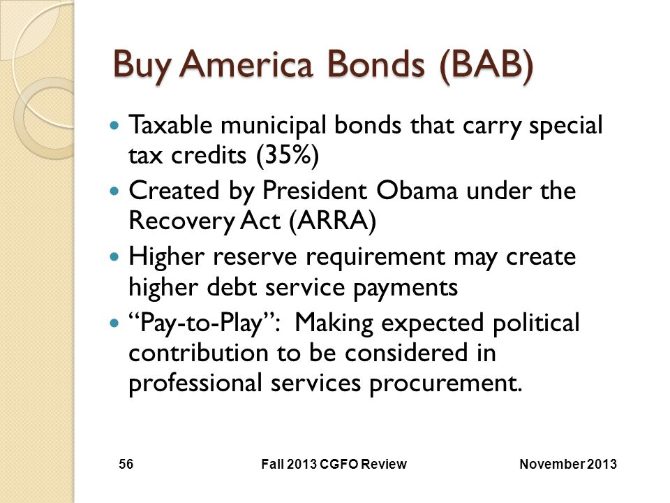 Buy America Bonds (BAB)