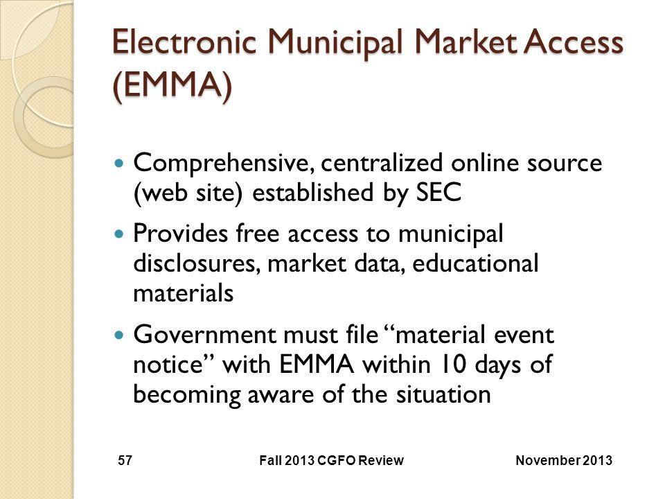 Electronic Municipal Market Access (EMMA)
