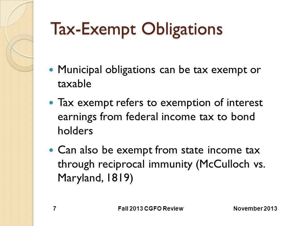 Tax-Exempt Obligations