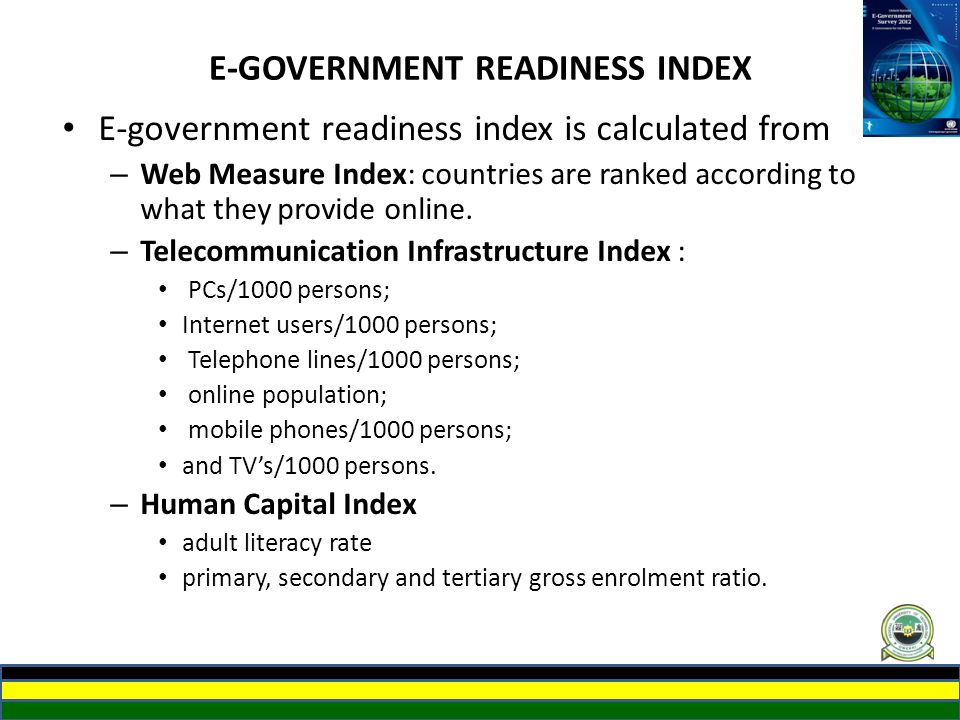 E-GOVERNMENT READINESS INDEX
