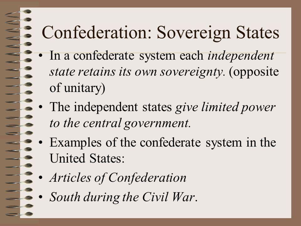 Confederation: Sovereign States