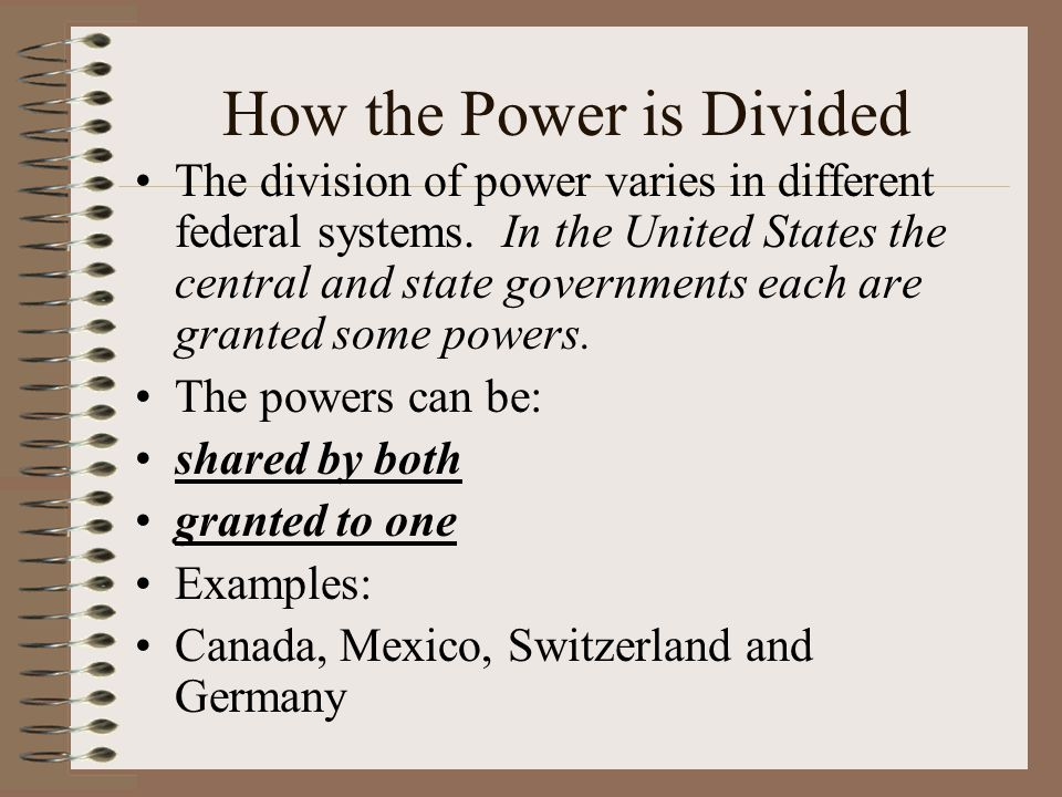 How the Power is Divided