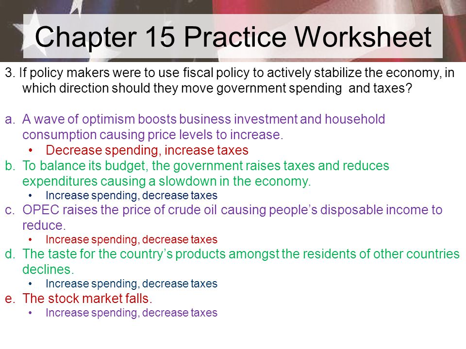 Chapter 15 Practice Worksheet