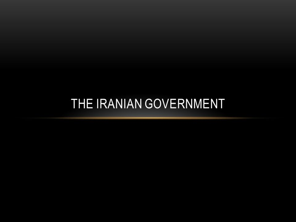 The Iranian Government
