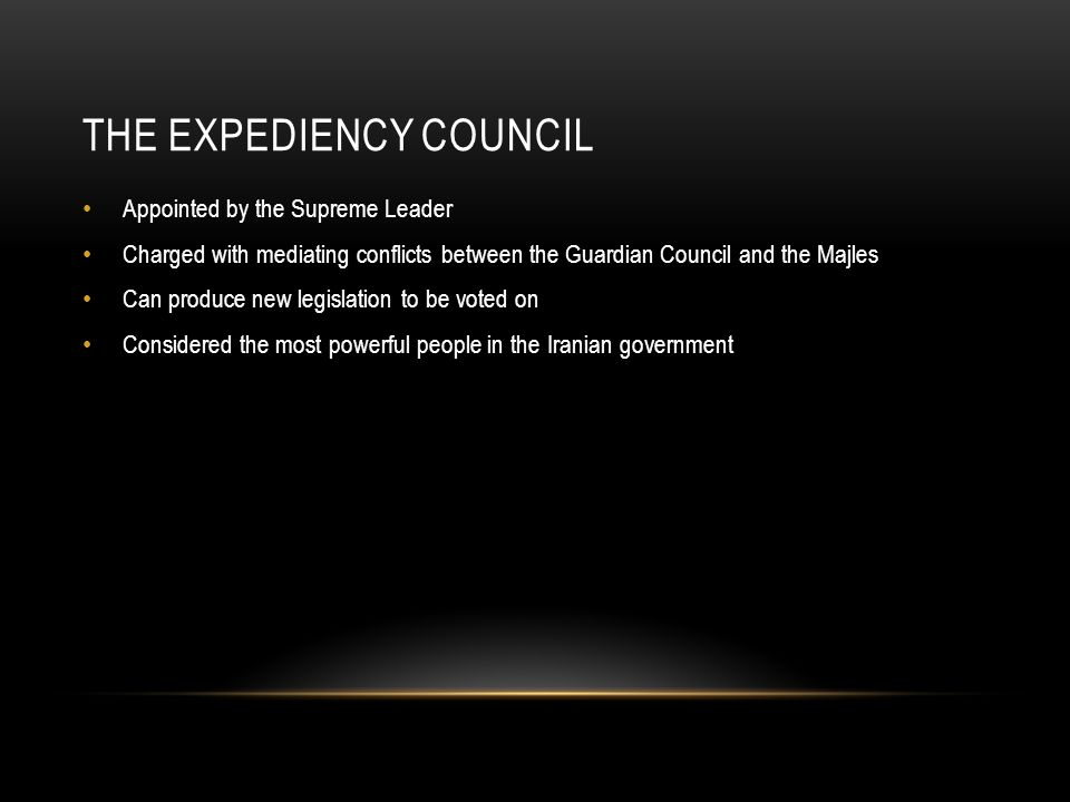 The Expediency Council