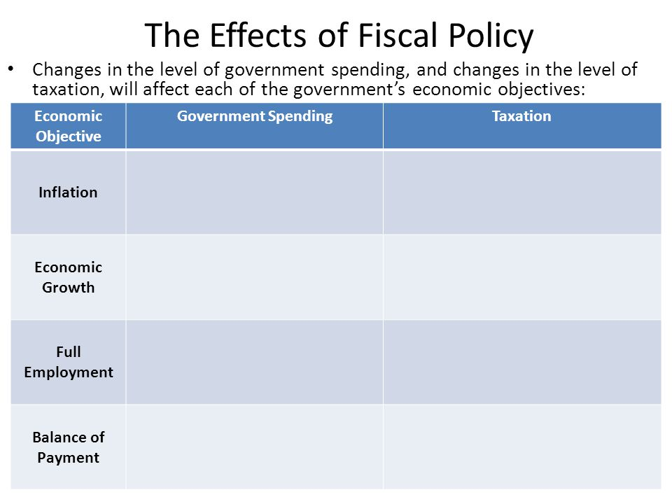 The Effects of Fiscal Policy