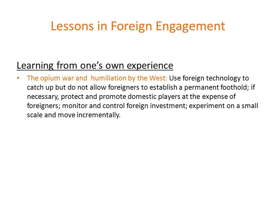 Lessons in Foreign Engagement