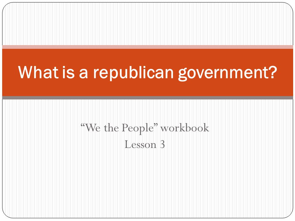 What is a republican government