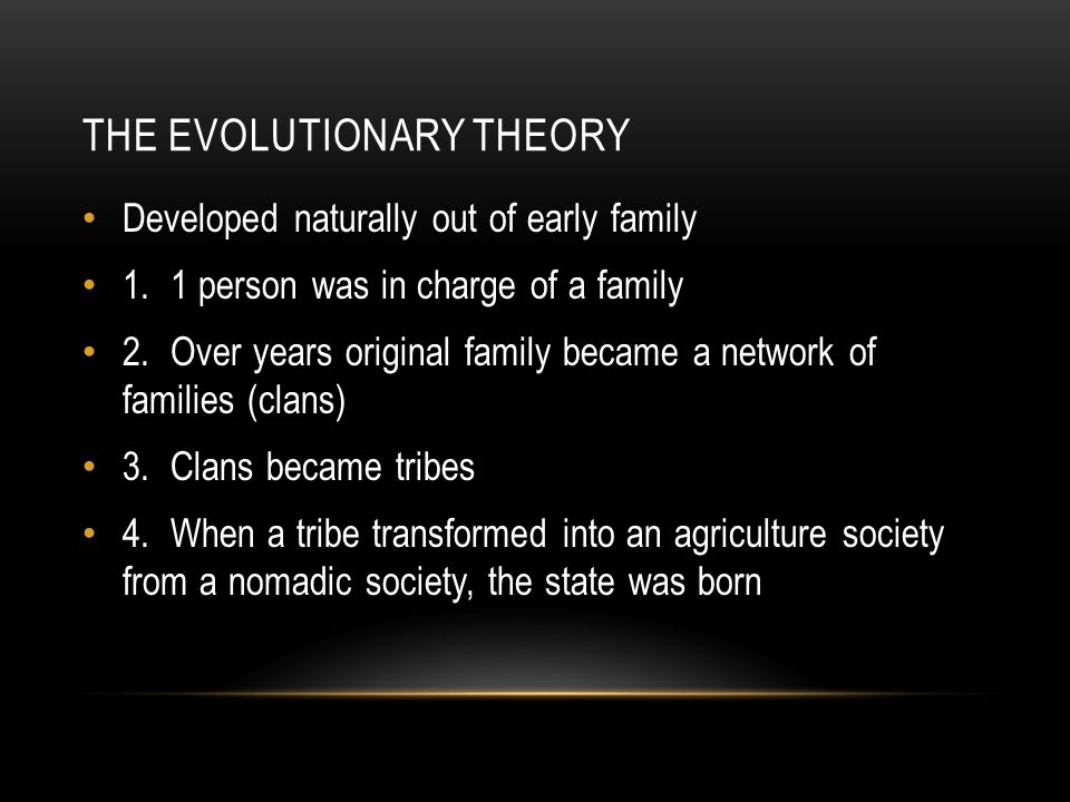 The Evolutionary Theory