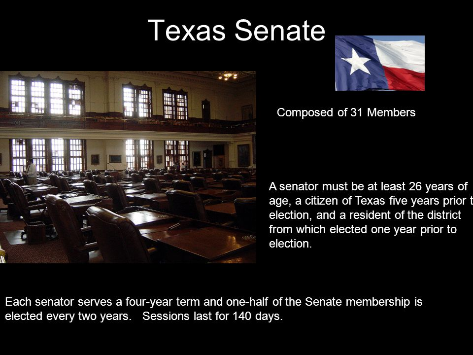 Texas Senate Composed of 31 Members