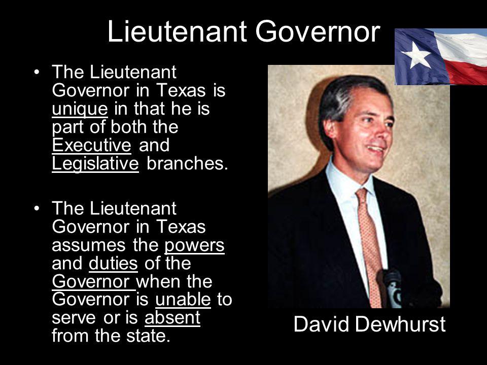 Lieutenant Governor David Dewhurst