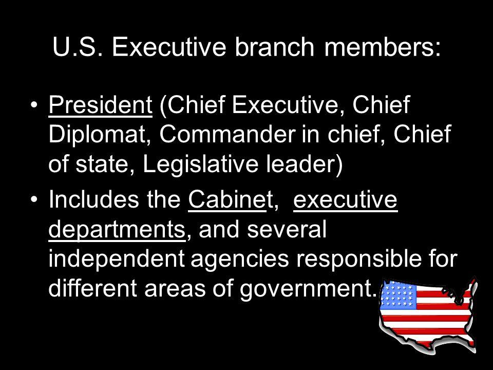 U.S. Executive branch members: