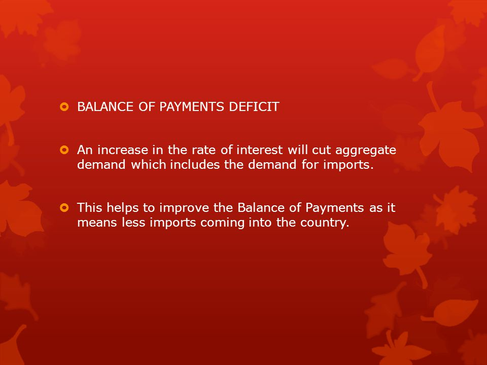 BALANCE OF PAYMENTS DEFICIT