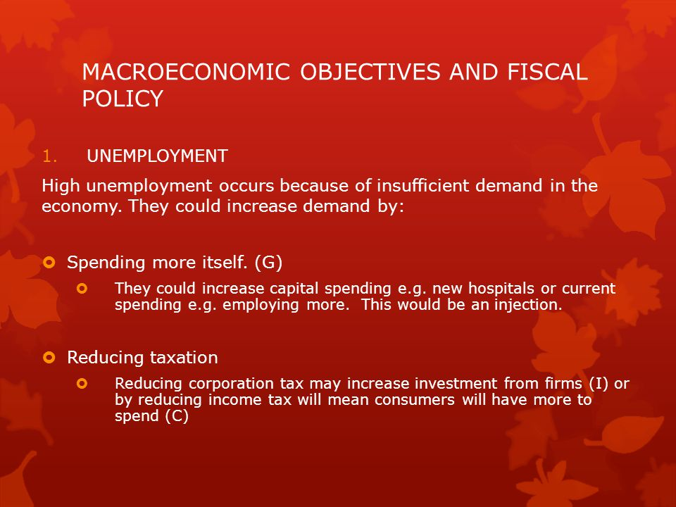 MACROECONOMIC OBJECTIVES AND FISCAL POLICY