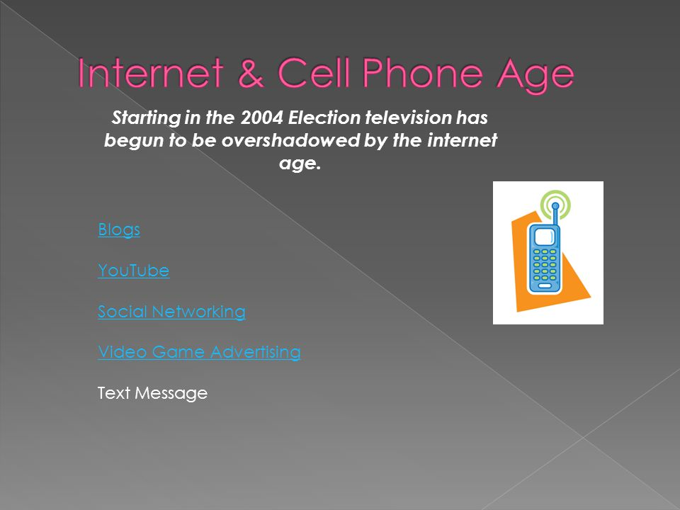 Internet & Cell Phone Age
