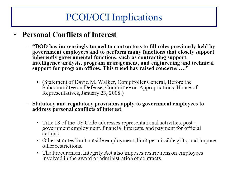 PCOI/OCI Implications