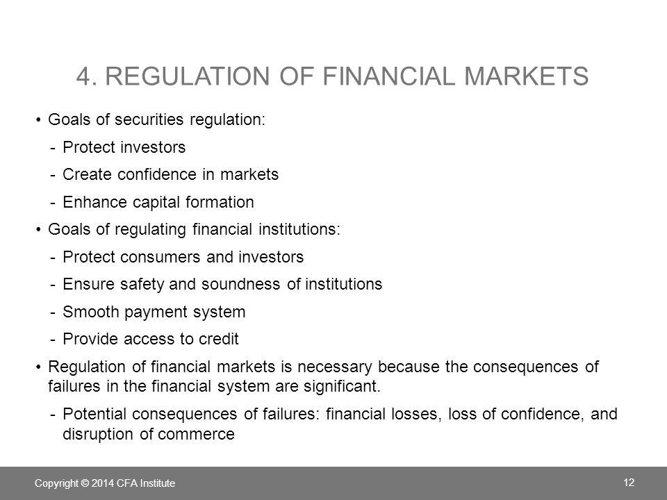 4. Regulation of financial markets