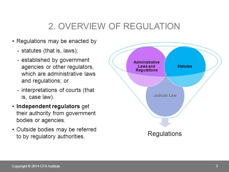 2. Overview of regulation