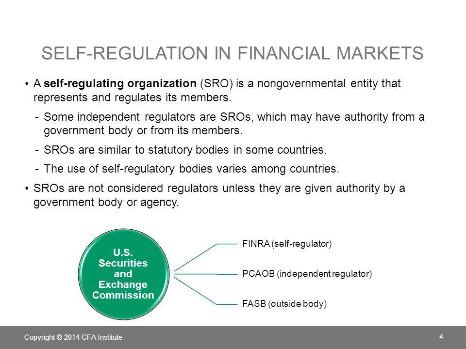 Self-regulation in financial markets