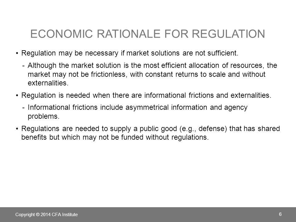 Economic rationale for regulation
