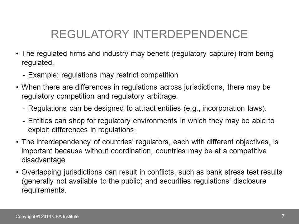 Regulatory interdependence