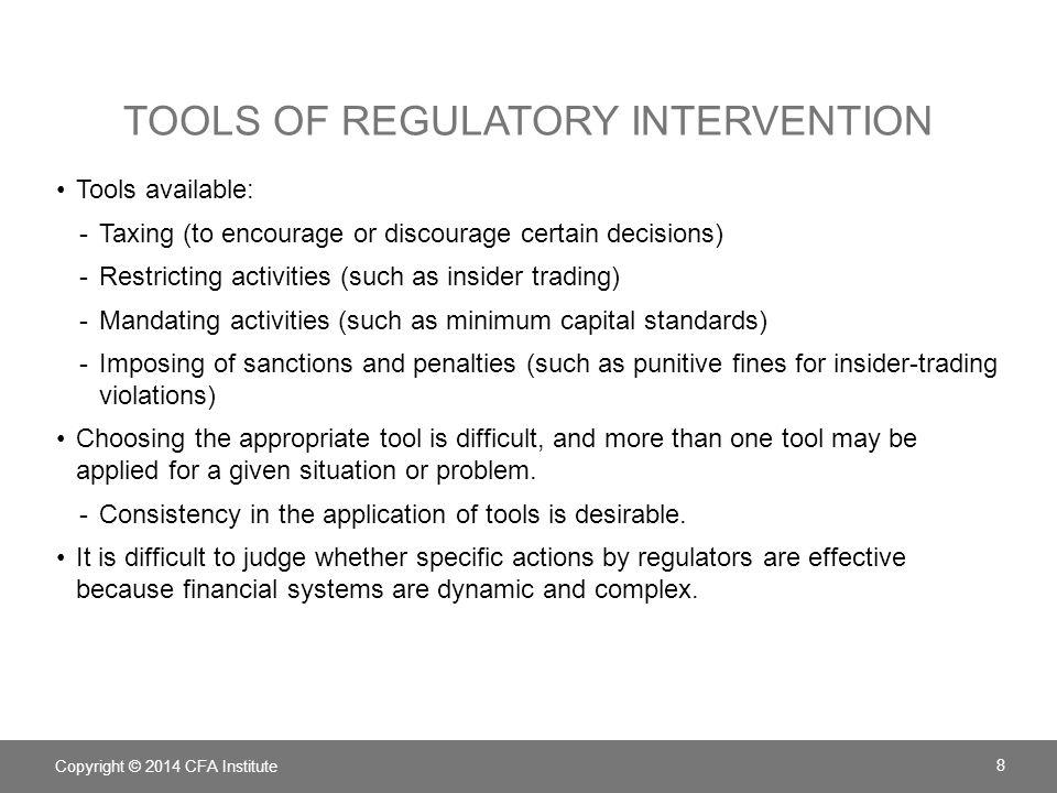 Tools of regulatory intervention