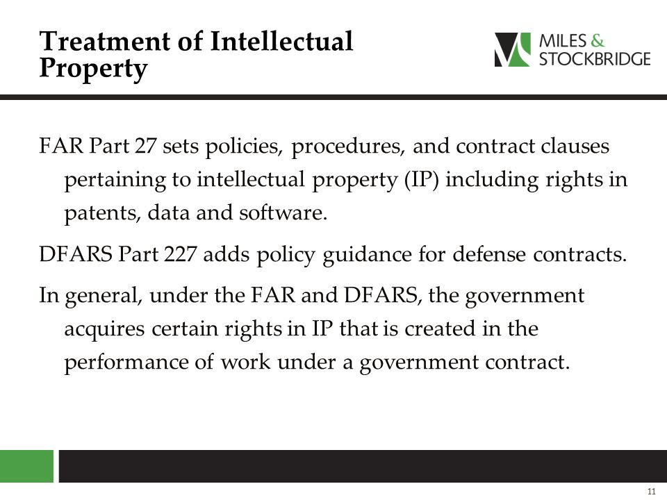 Treatment of Intellectual Property