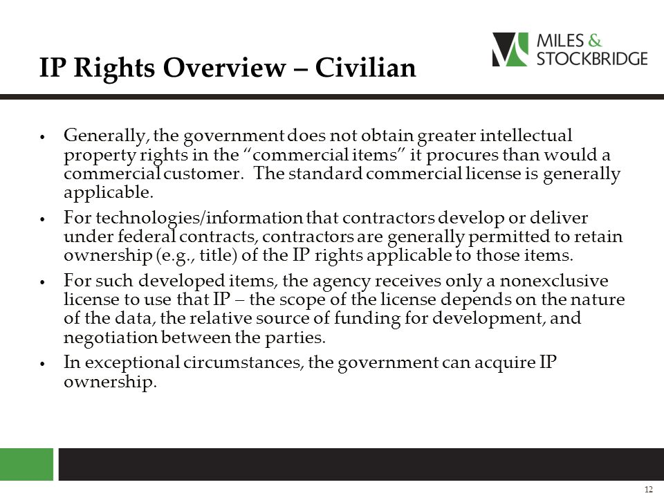 IP Rights Overview – Civilian