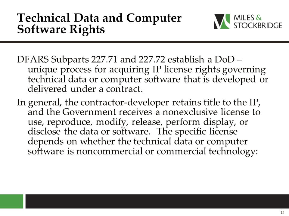 Technical Data and Computer Software Rights