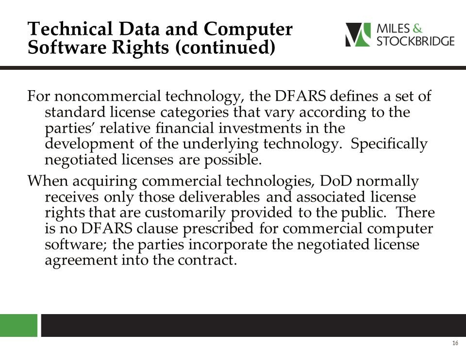 Technical Data and Computer Software Rights (continued)