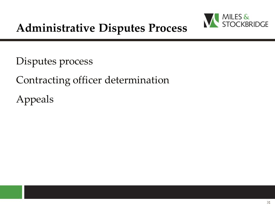 Administrative Disputes Process