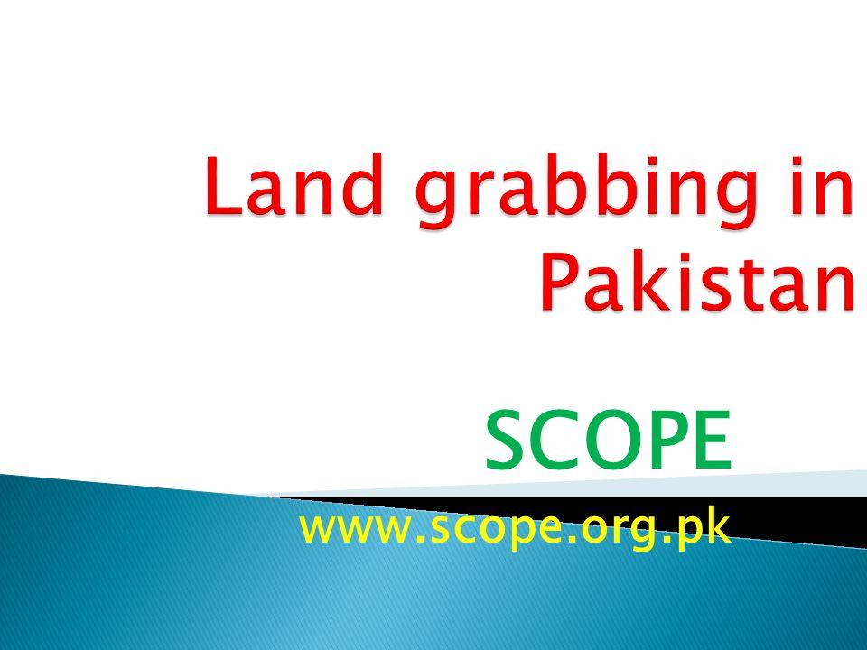 Land grabbing in Pakistan