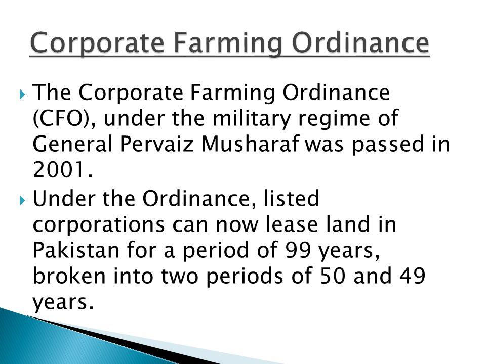 Corporate Farming Ordinance
