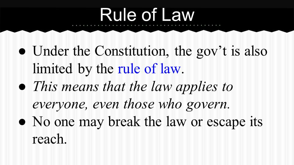 Partner Question What is limited government What is the rule of law