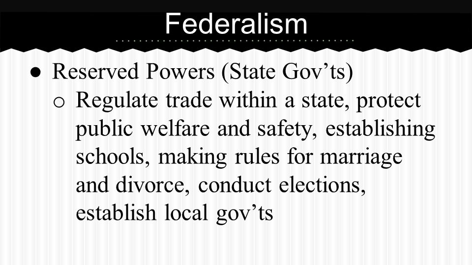 Federalism Concurrent Powers (National and State Gov'ts)