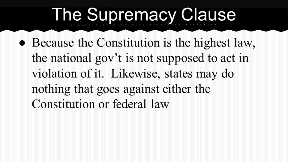 Partner Question What is the supremacy clause