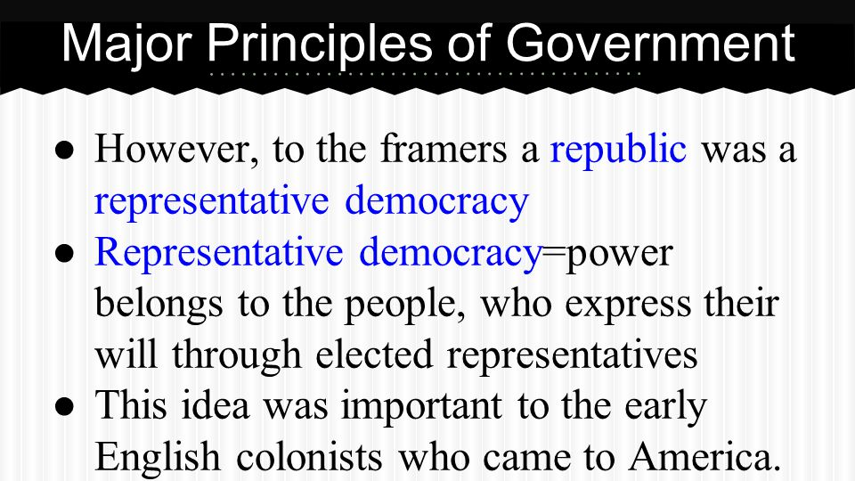 Popular Sovereignty The idea that the power of gov't lies with the people.