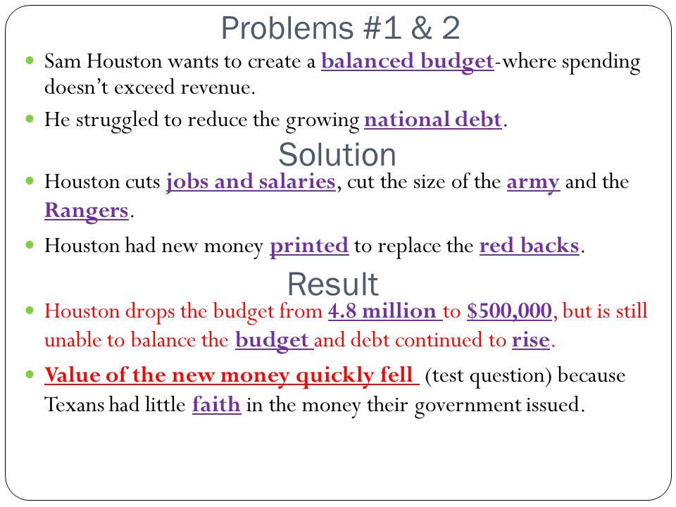 Solution Result Problems #1 & 2