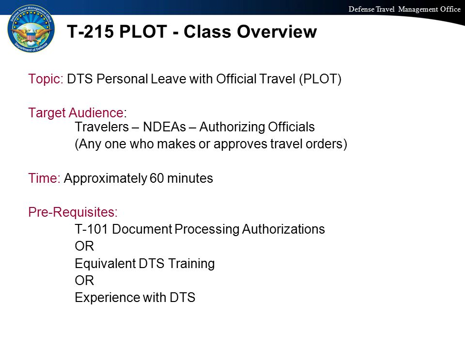 T-215 PLOT - Class Overview