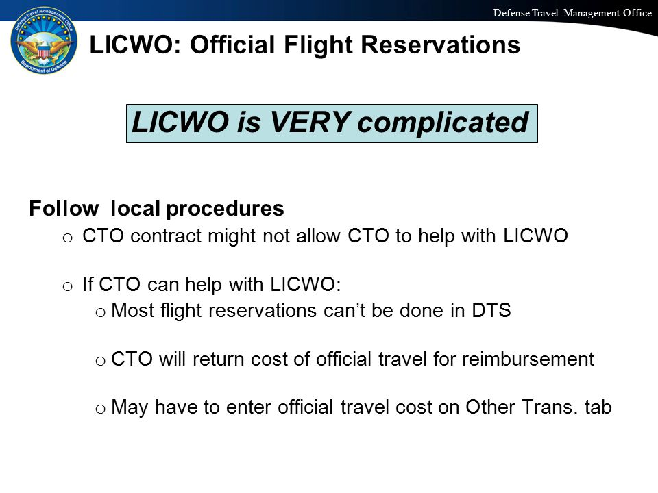 LICWO: Official Flight Reservations