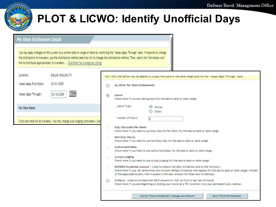 PLOT & LICWO: Identify Unofficial Days