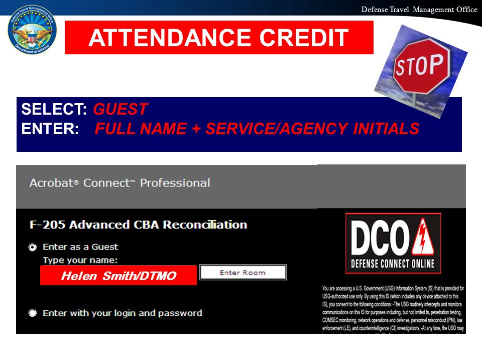 ATTENDANCE CREDIT SELECT: GUEST