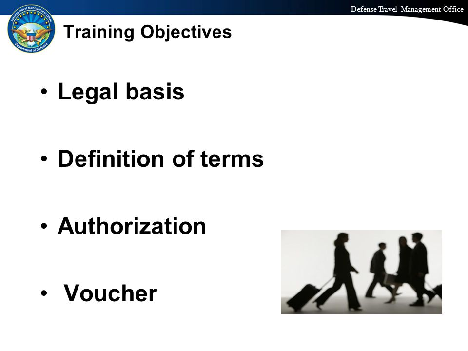 Legal basis Definition of terms Authorization Voucher