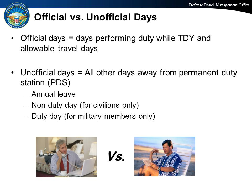 Official vs. Unofficial Days