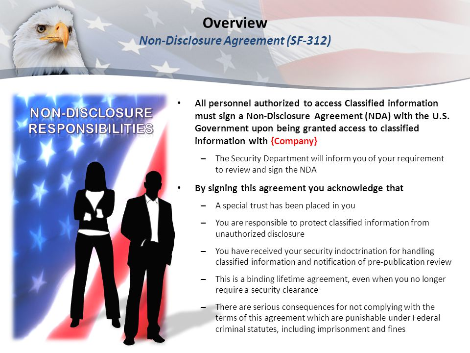 Overview Non-Disclosure Agreement (SF-312)