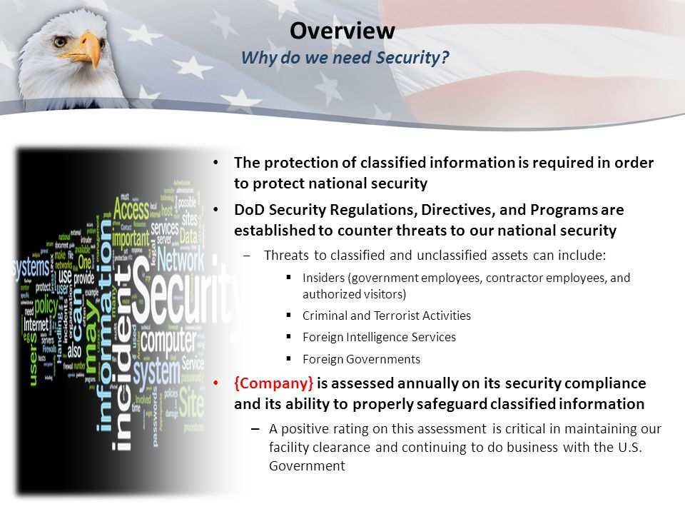 Overview Why do we need Security