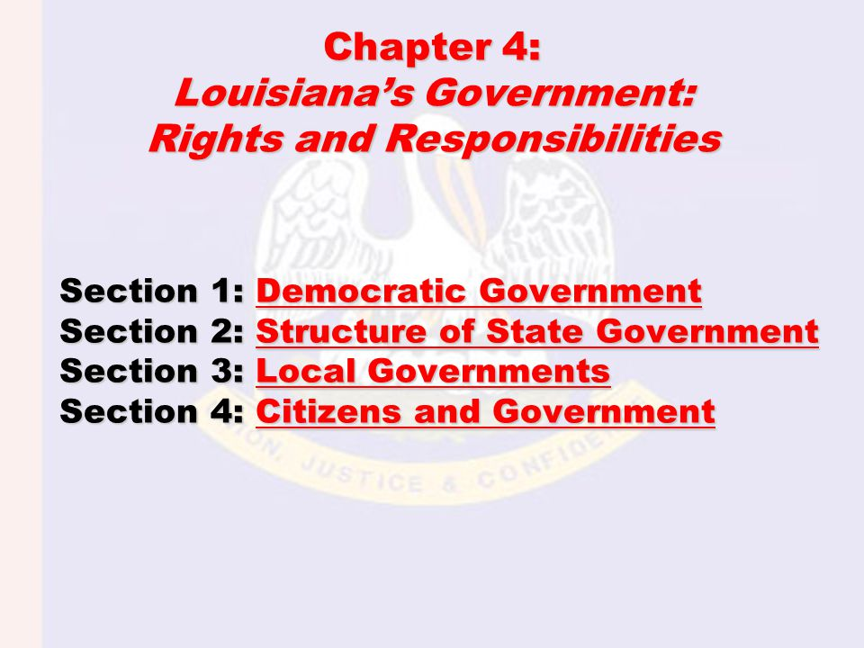Section 1: Democratic Government